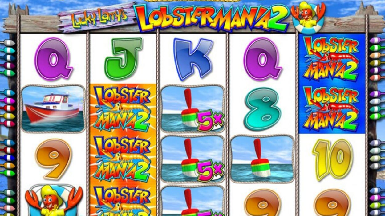 Title screen for Lobstermania 3 Slots Game
