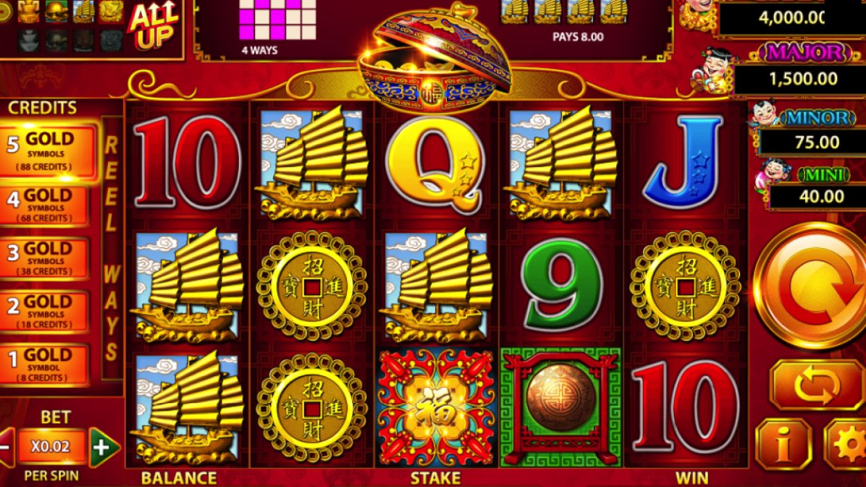 Title screen for 88 Fortunes slot game