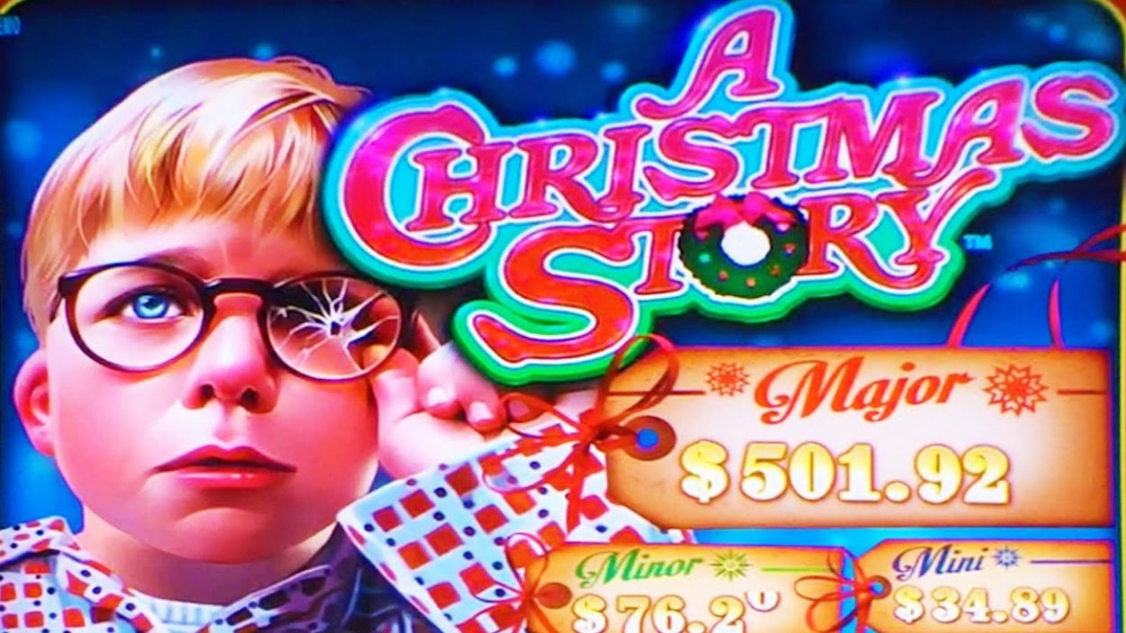 Title screen for A Christmas Story slot game