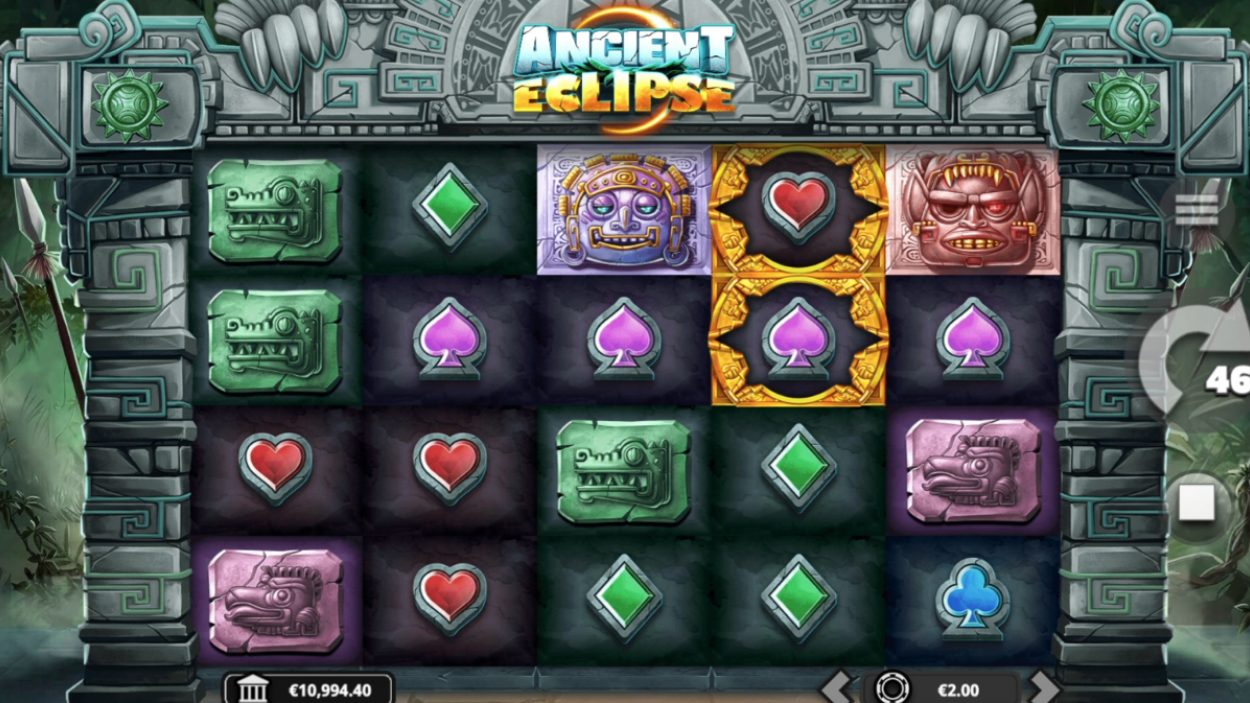 Title screen for Ancient Eclipse slot game
