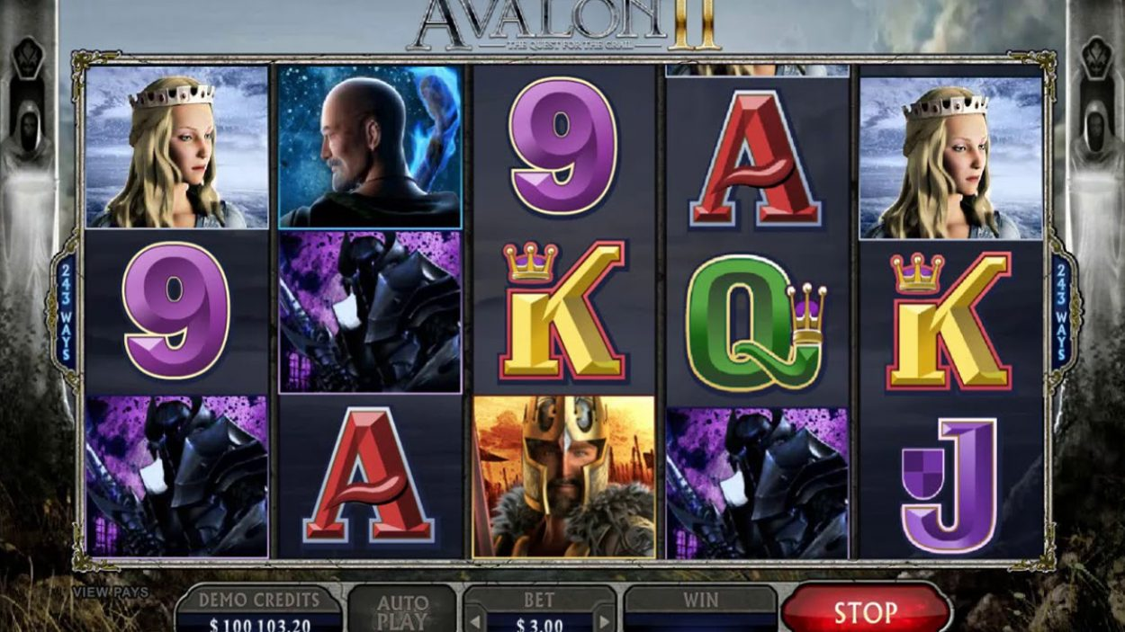 Title screen for Avalon 2 Slots Game