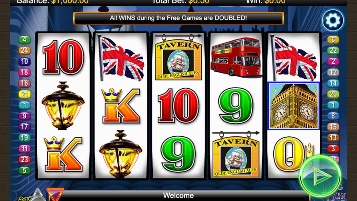 Title screen for Big Ben slot game