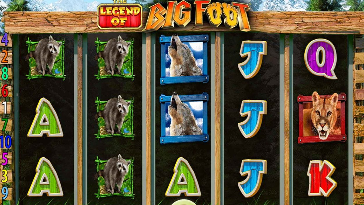 Title screen for Bigfoot Slots Game