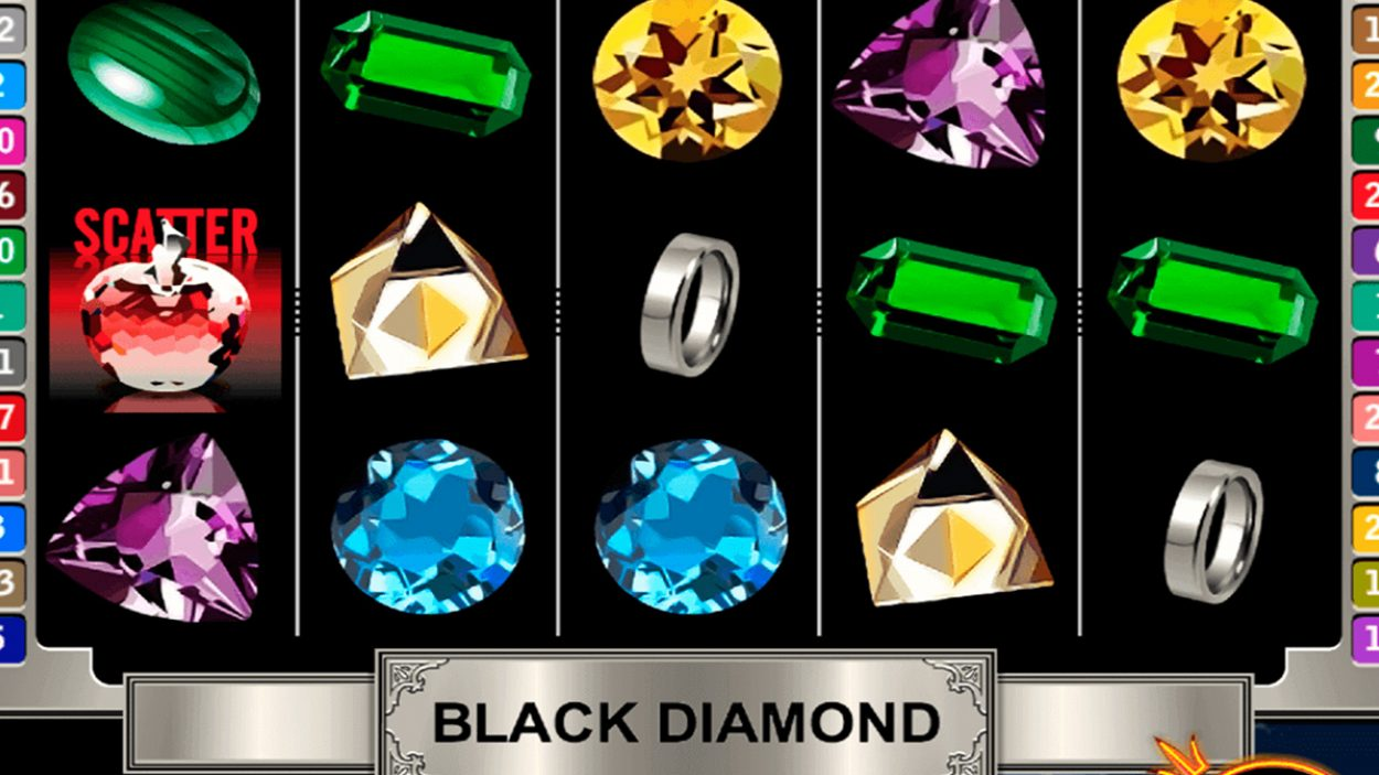 Title screen for Black Diamond slot game