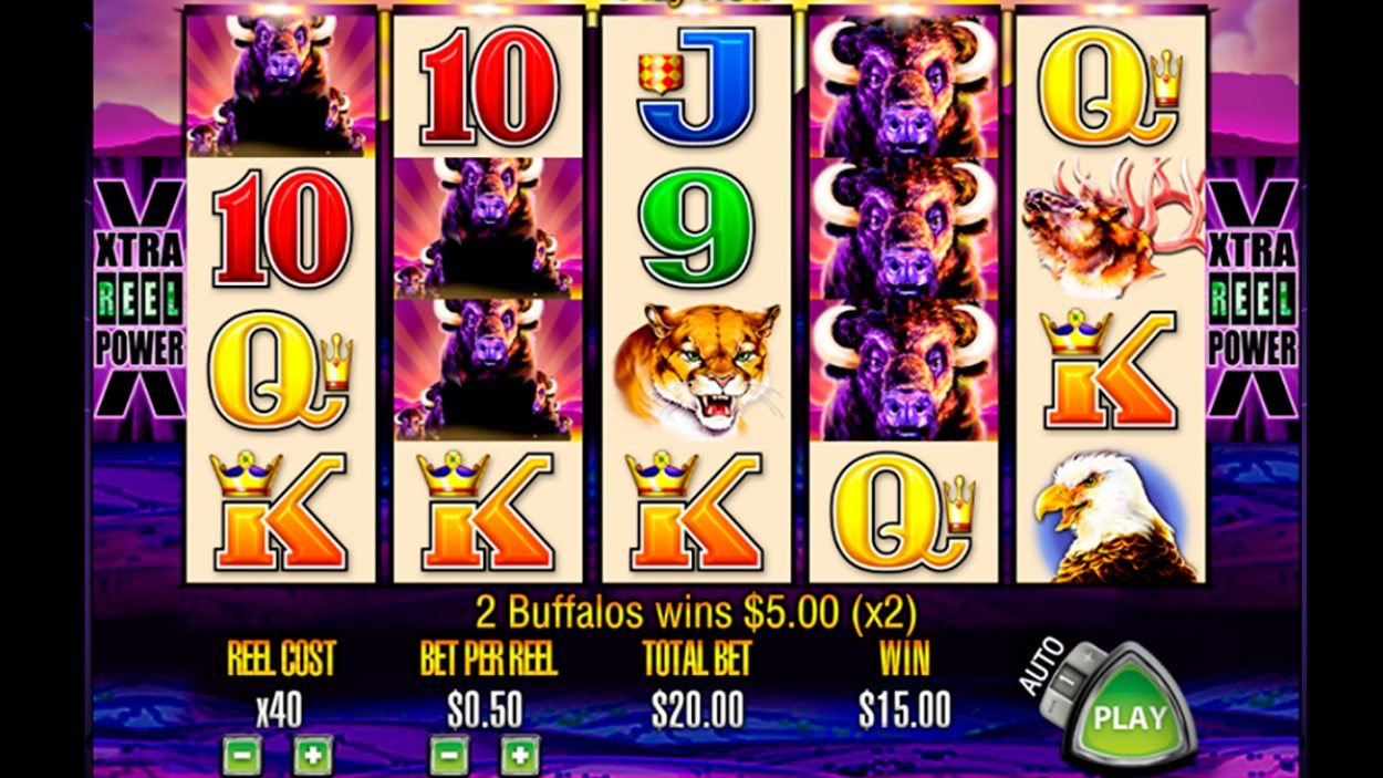 Title screen for Buffalo slot game