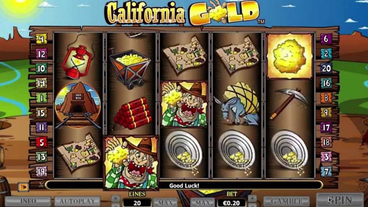 Title screen for California Gold Slots Game