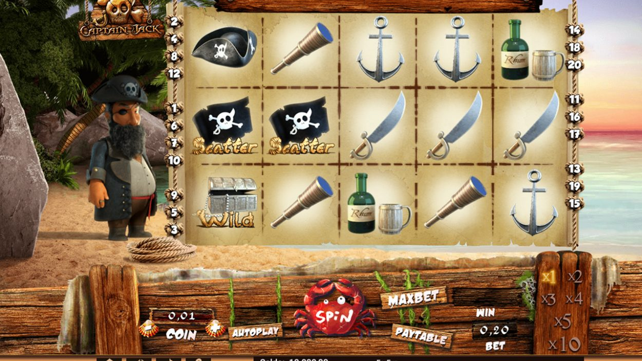 Captain Jack slot game free demo