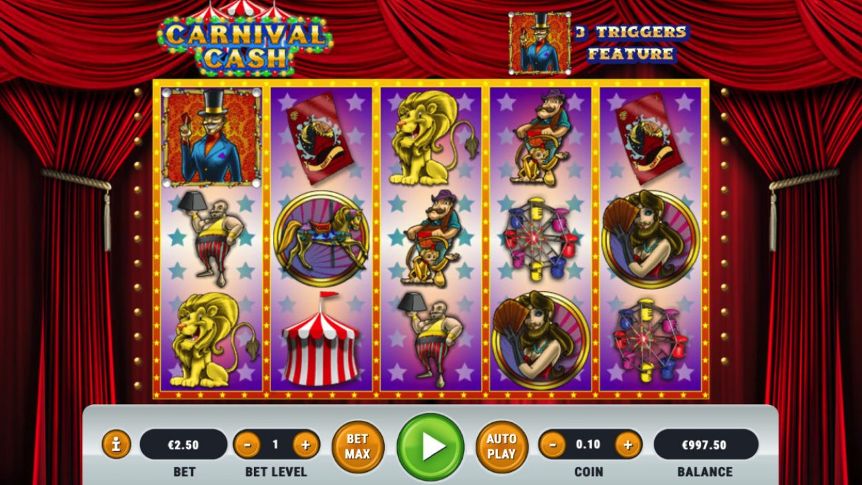 Title screen for Carnival Cash slot game