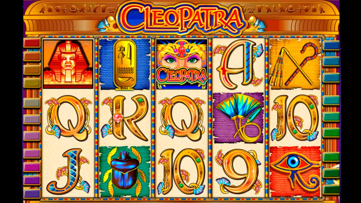 Title screen for Cleopatra slot game