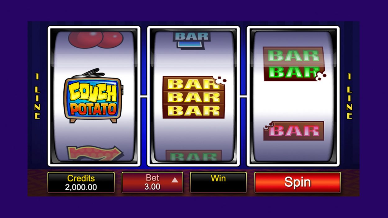 Title screen for Couch Potato slot game