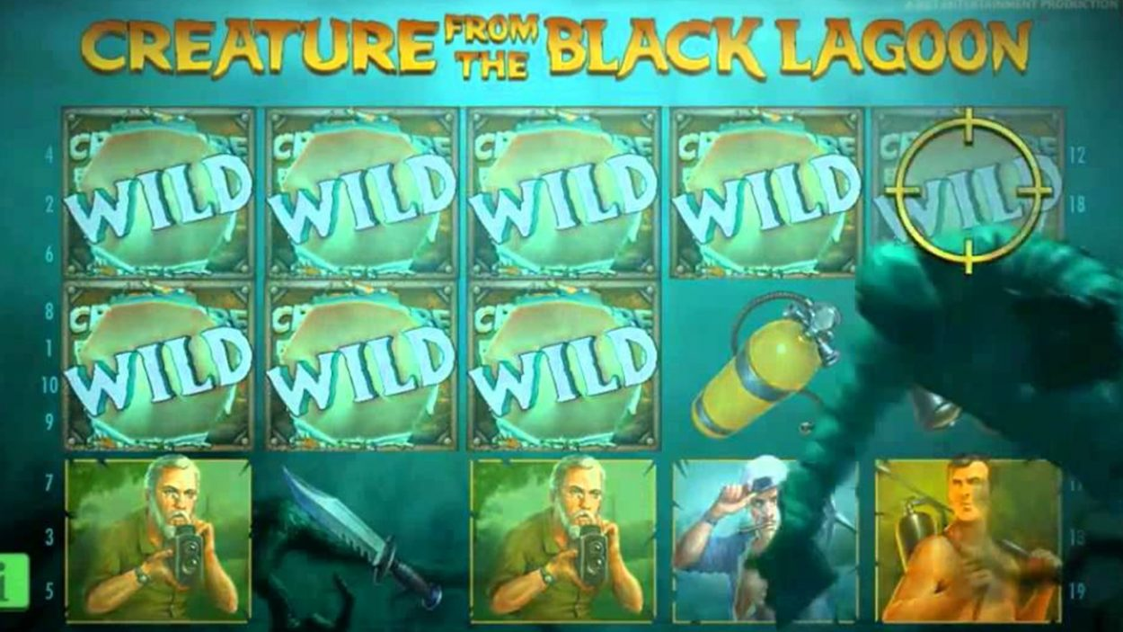 Title screen for Creature From Lagoon  Slots Game