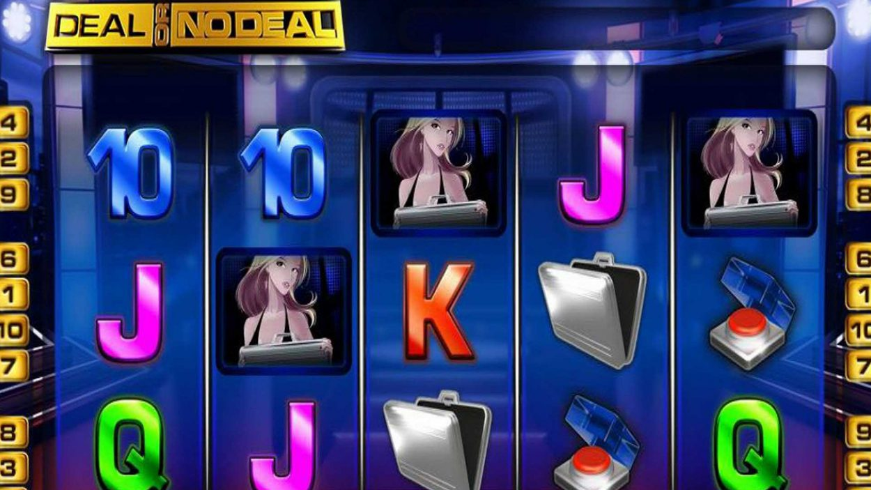 Title screen for Deal Or No Deal slot game
