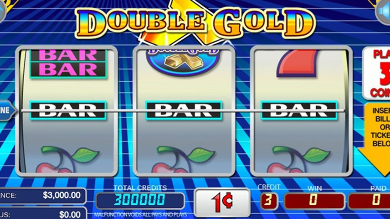 Title screen for Double Gold Slots Game
