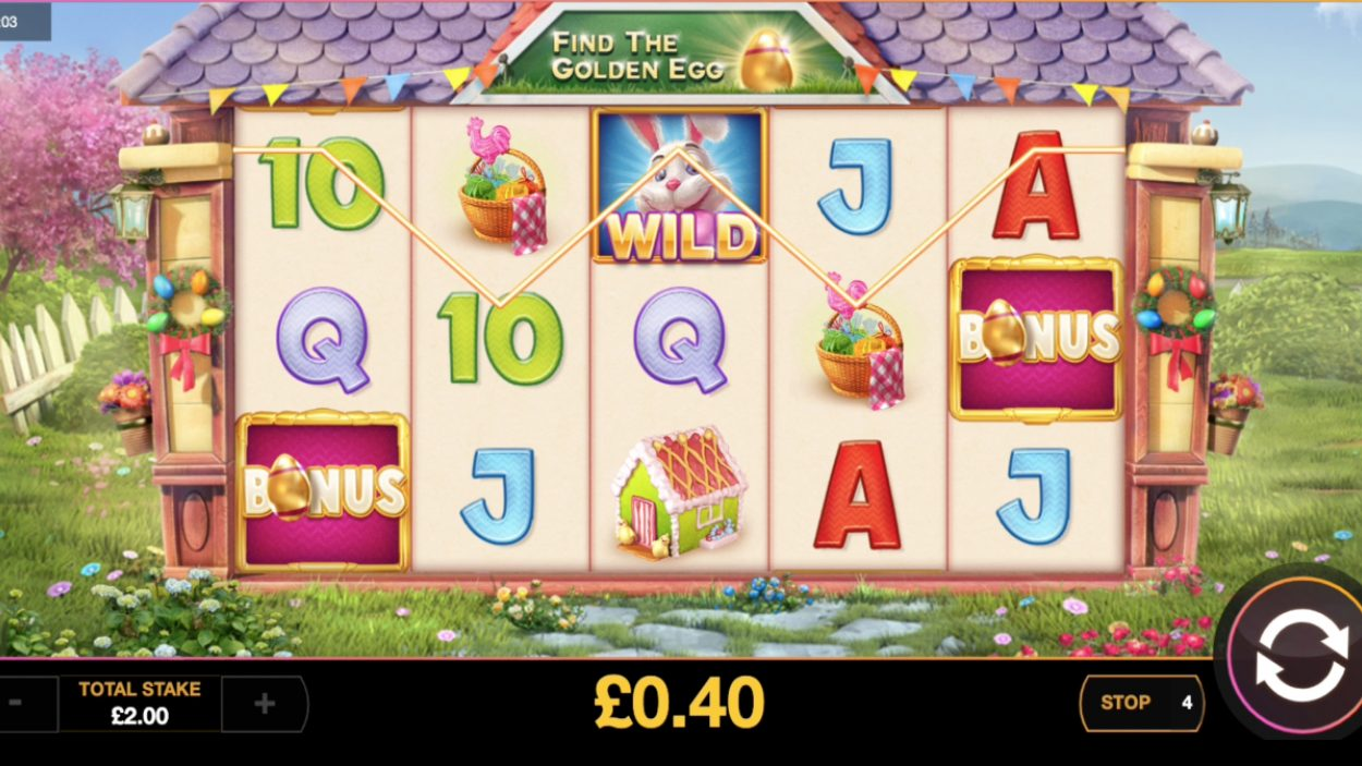 Title screen for Easter Money slot game