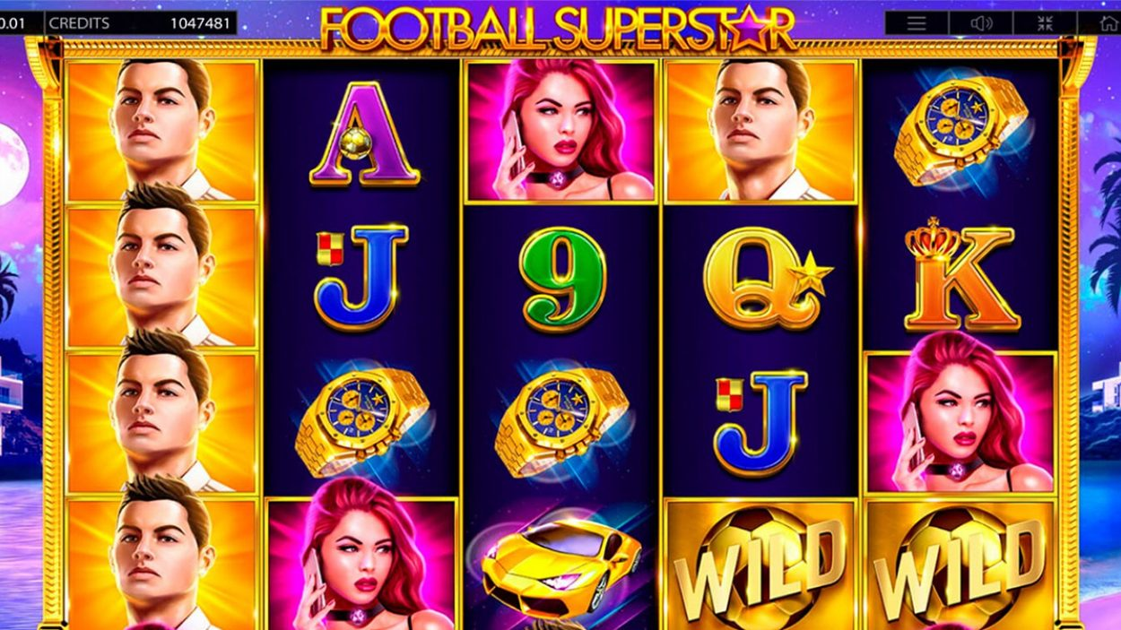 Title screen for Football slot game