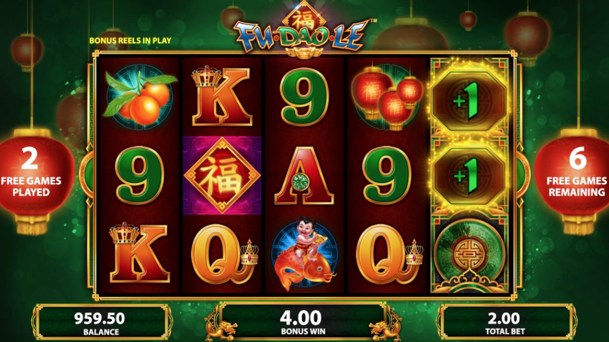 Title screen for Fu Dao Le slot game