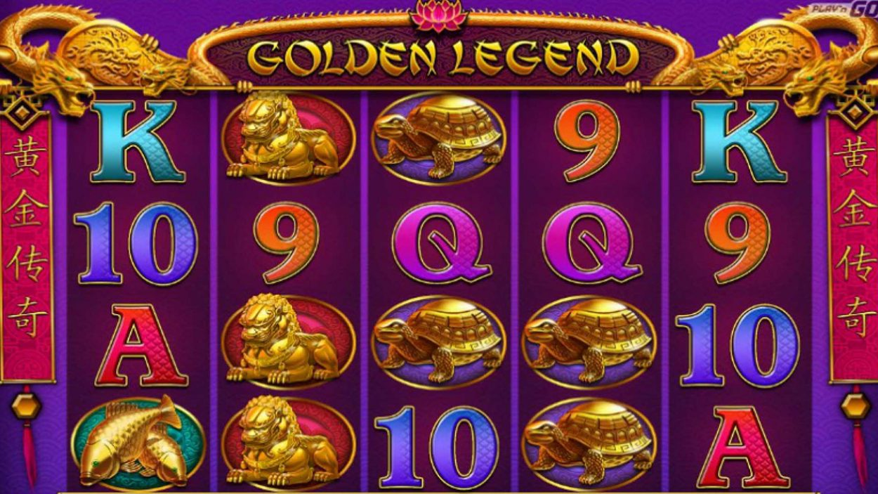 Title screen for Golden Legend Slots Game