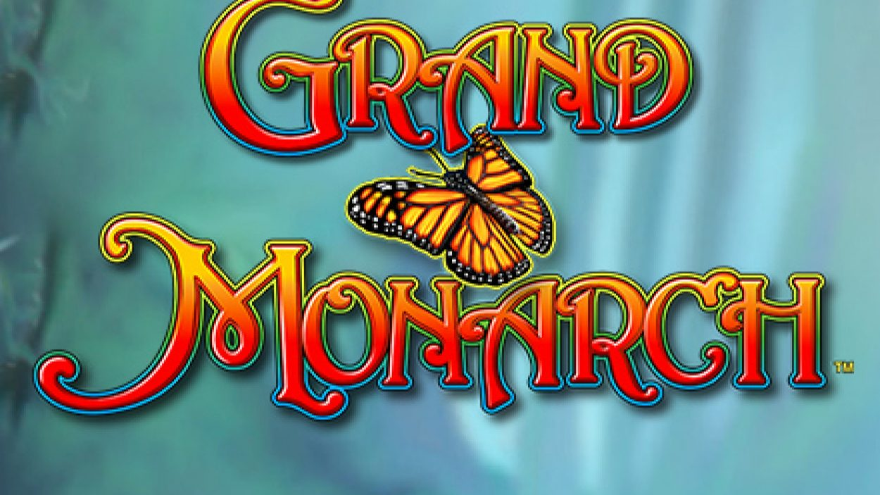 Title screen for Grand Monarch slot game