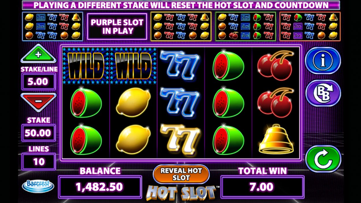 Title screen for Hot Slot slot game