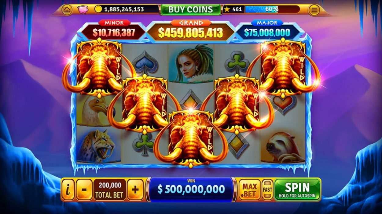 Title screen for House Of Fun Slots Game