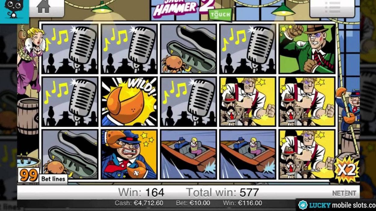 Title screen for Jack Hammer 2 Slots Game