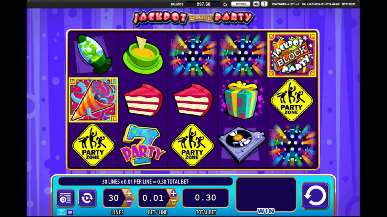 Jackpot Block Party slot game free demo