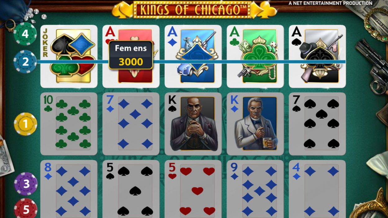 Title screen for Kings Of Chicago Slots Game