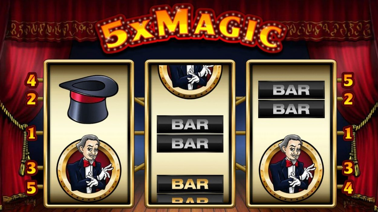 Title screen for 5x Magic Slots Game