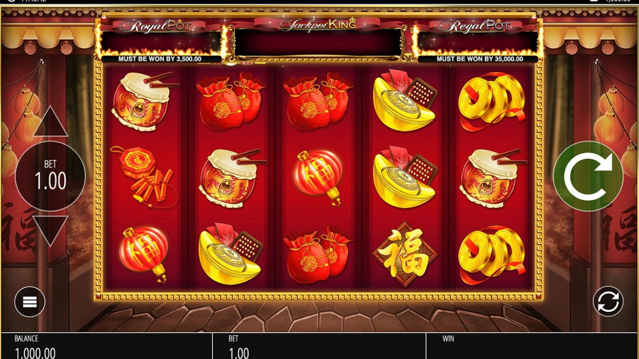 Title screen for Lion Festival slot game