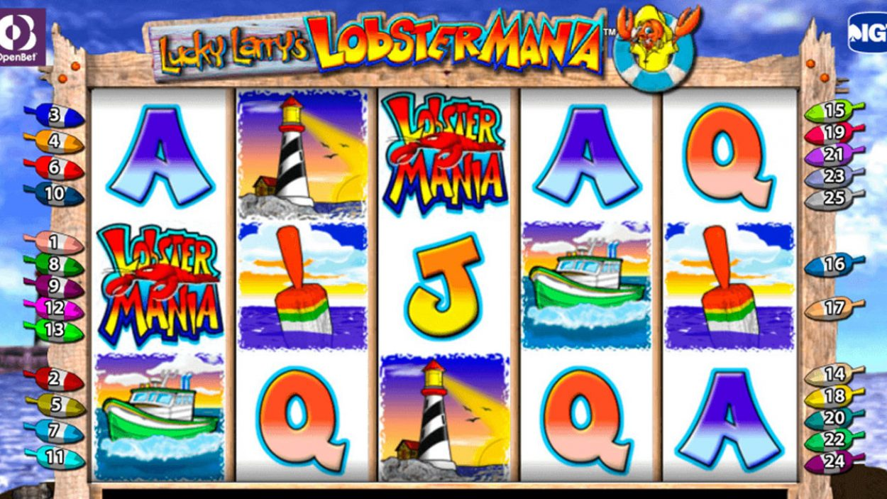 Title screen for Lobstermania slot game