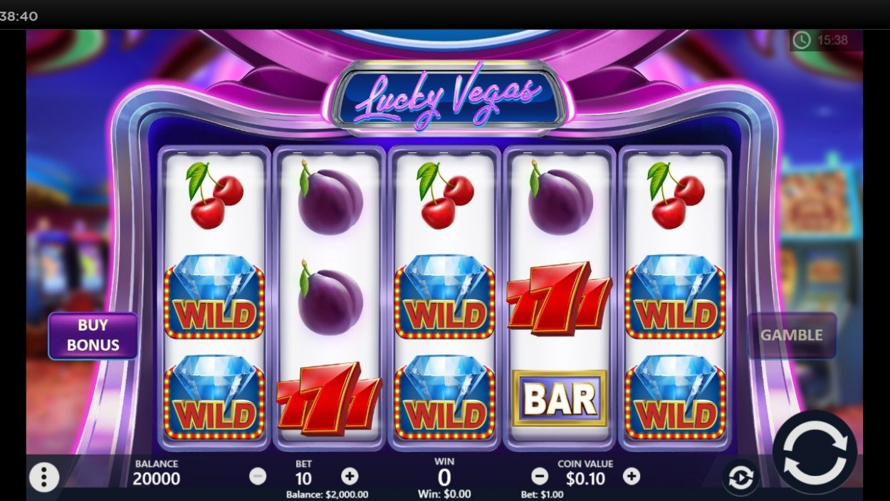Lucky Vegas slot game free demo