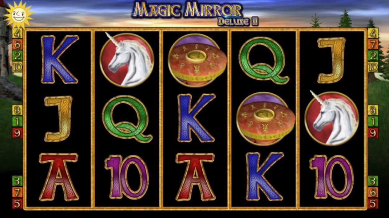 Title screen for Magic Mirror Deluxe slot game