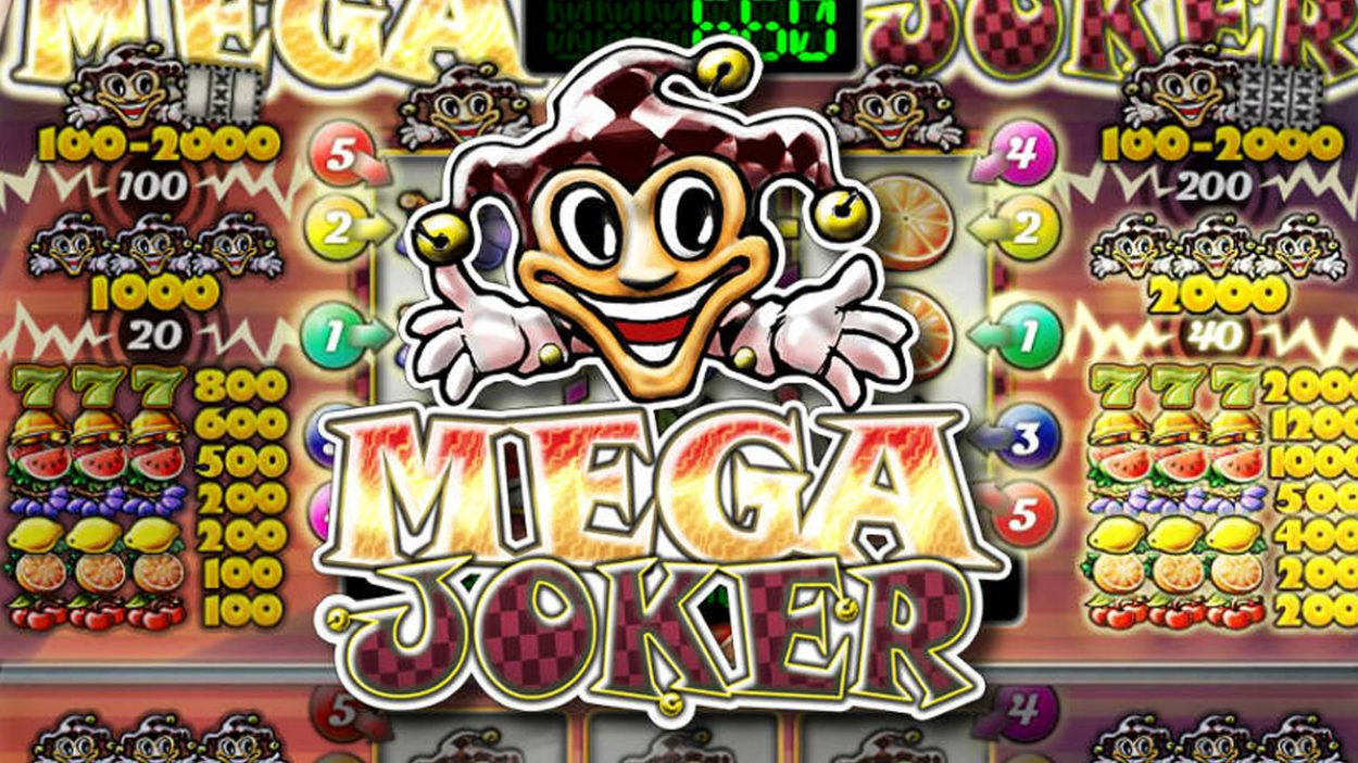 Title screen for Mega Joker Slots Game