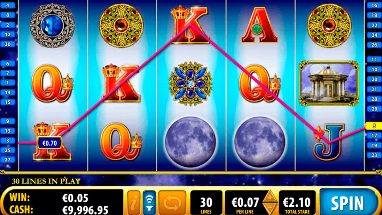 Title screen for Moon Goddess slot game