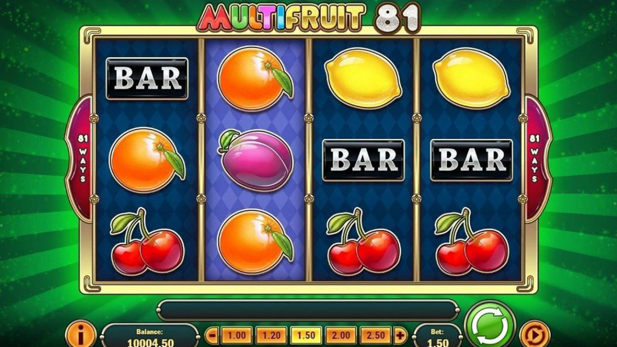 Title screen for Multifruit 81 Slots Game