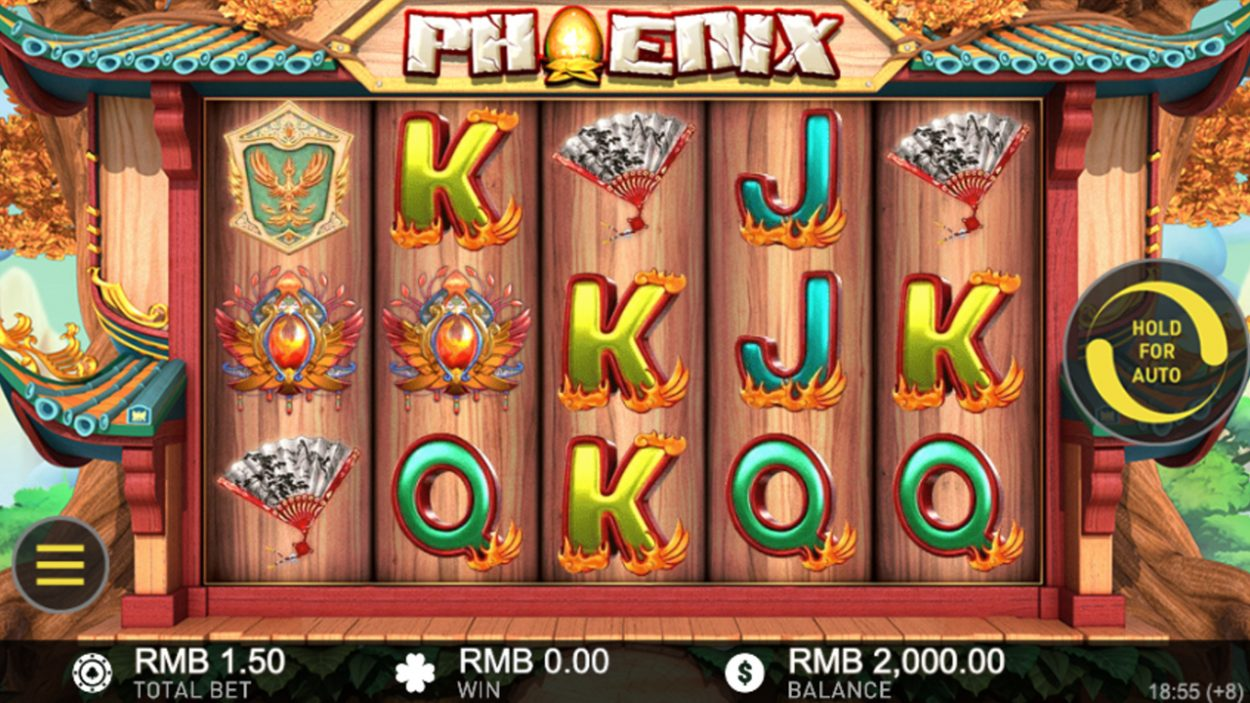 Title screen for Phoenix slot game