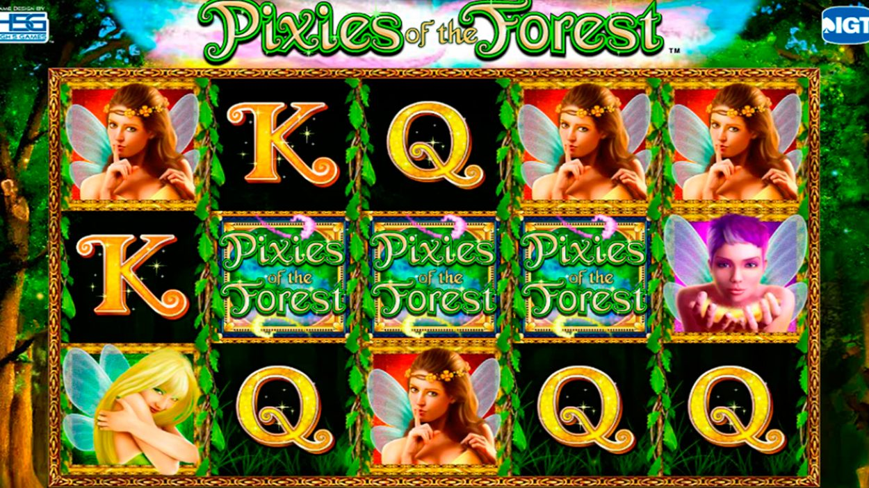 Title screen for Pixies of the Forest slot game