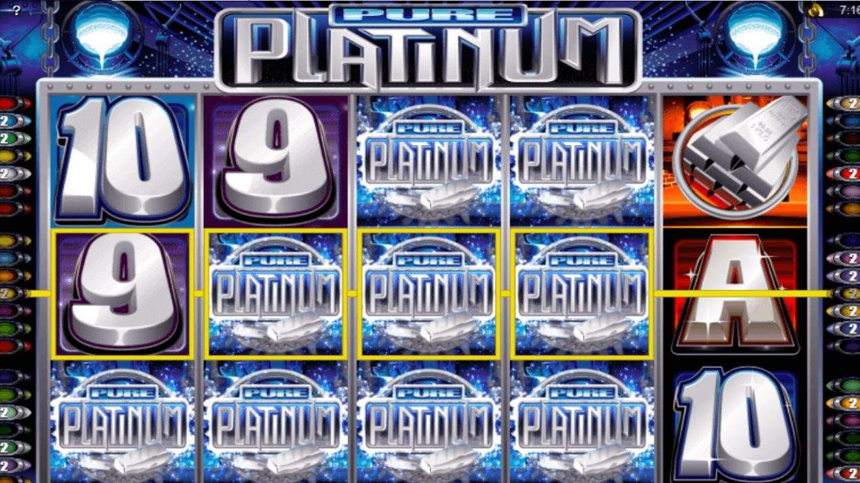 Title screen for Pure Platinum slot game