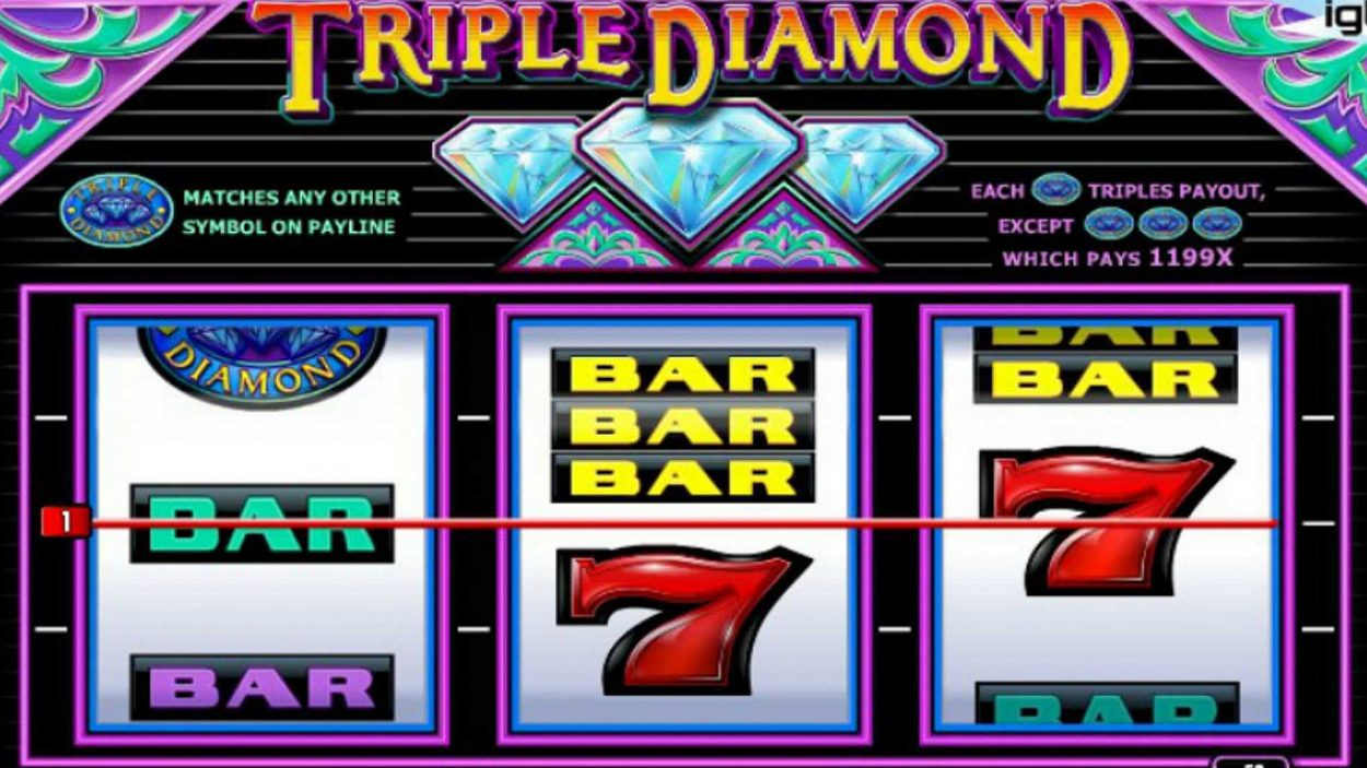 Title screen for Triple Diamond Game