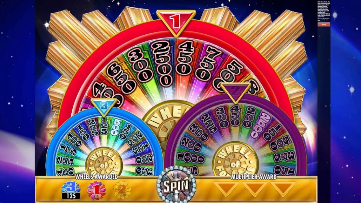 Title screen for Wheel Of Fortune Slots Game