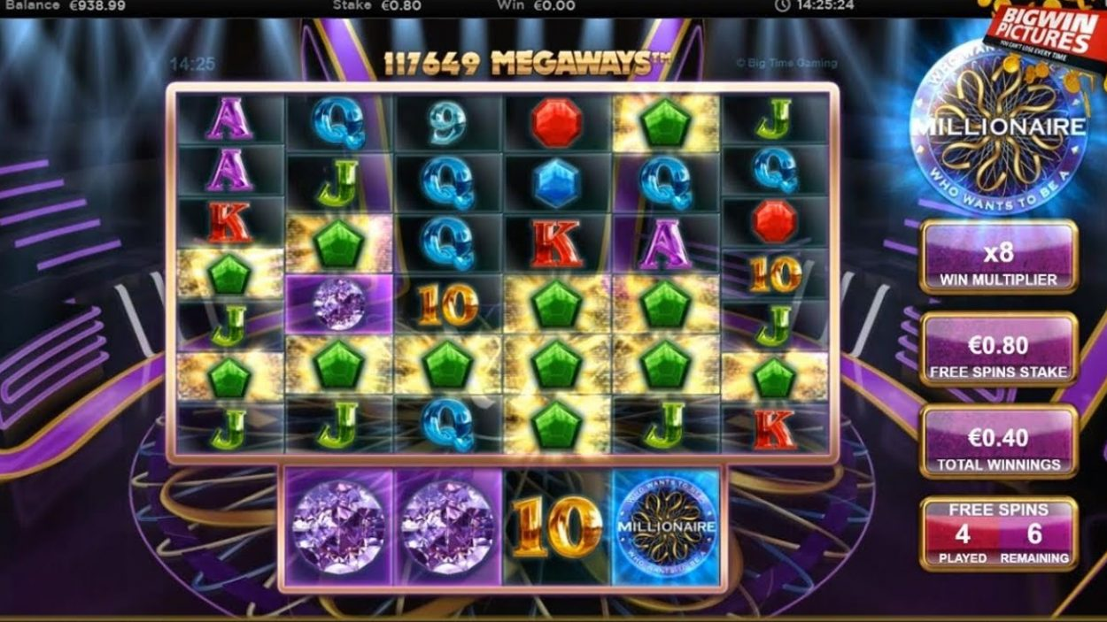 Title screen for Who Wants To Be A Millionaire Slots Game