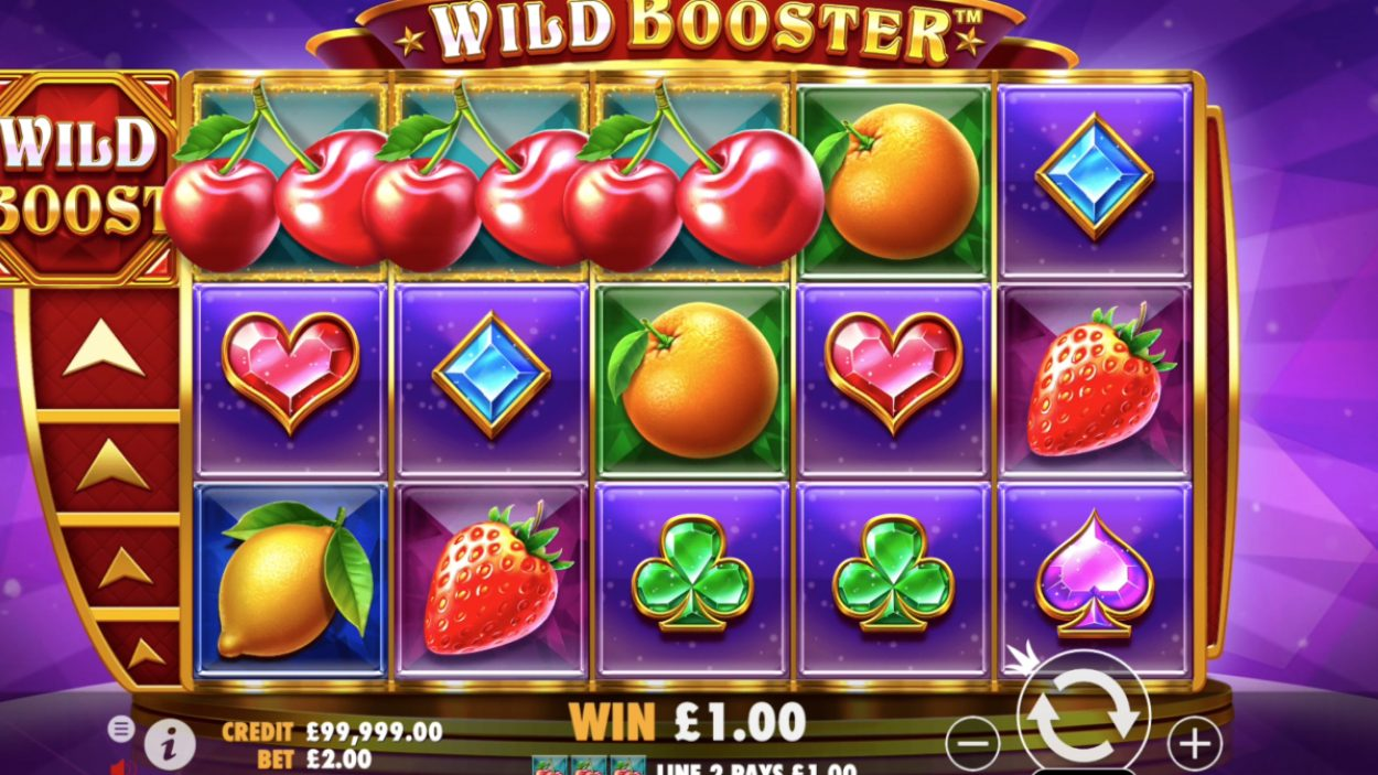 Title screen for Wild Booster slot game