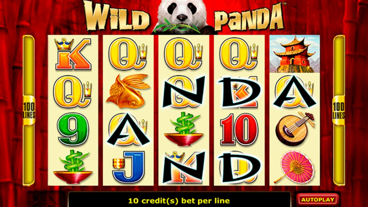 Title screen for Wild Panda slot game