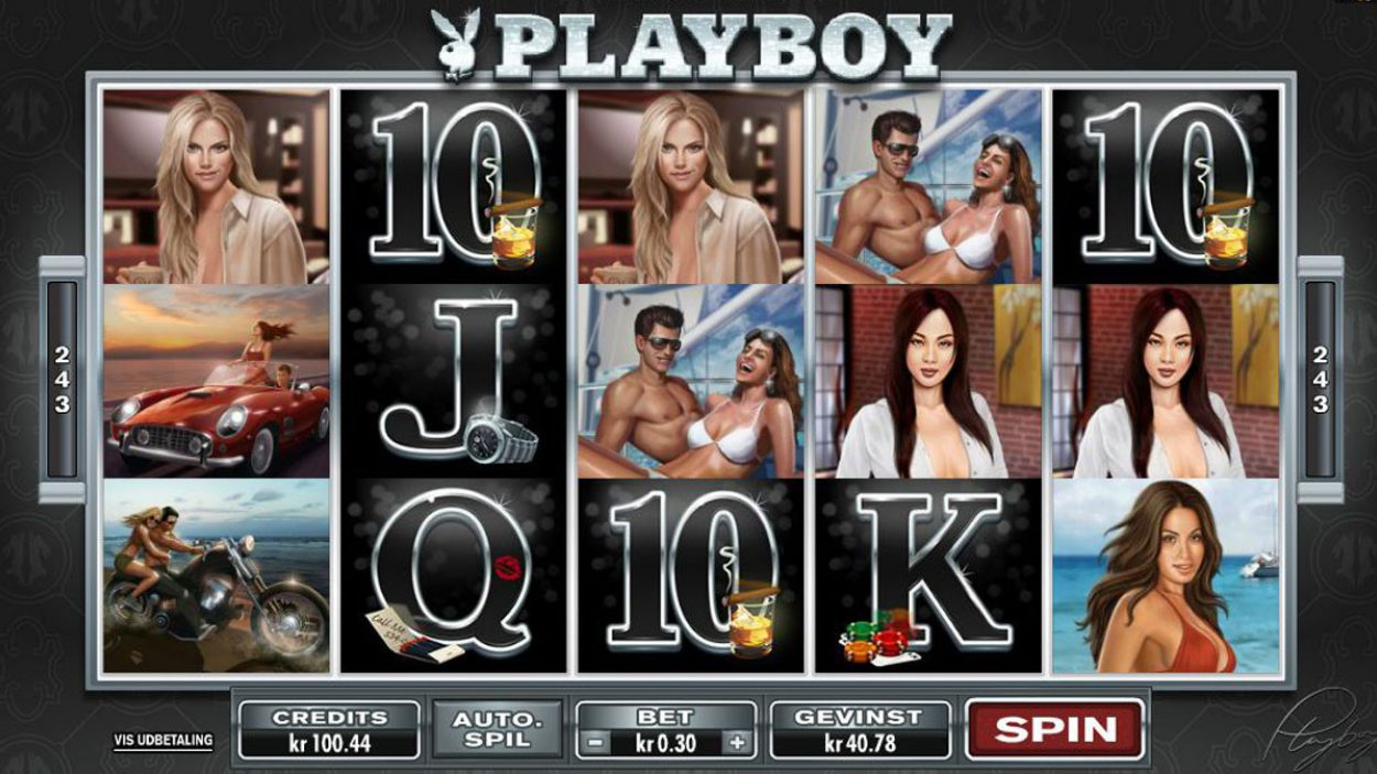Title screen for Playboy slot game