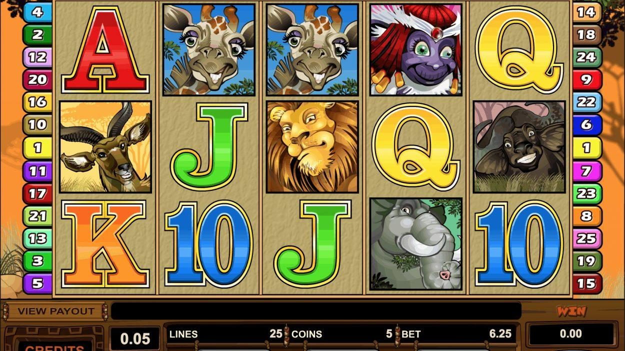 Title screen for Mega Moolah Slots Game